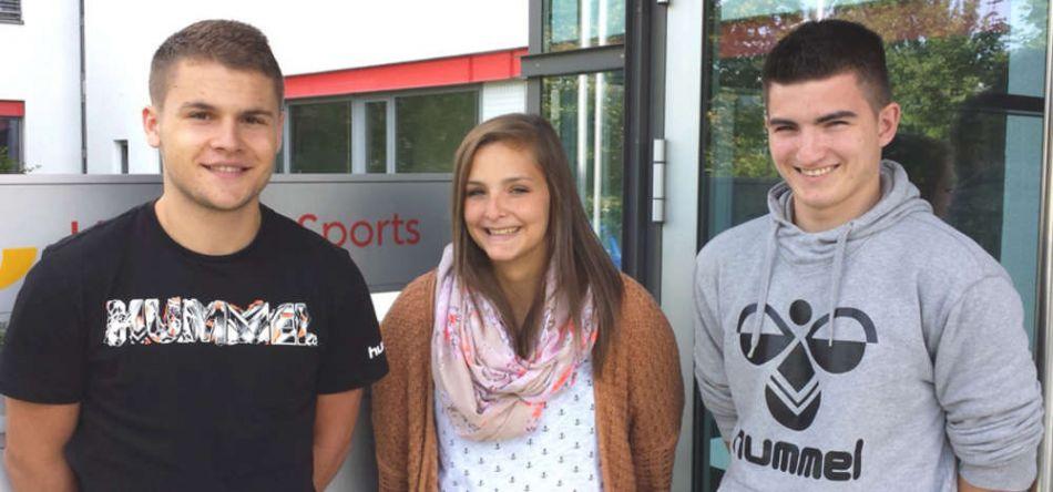 Maureen Merkel, Benedikt Köhler und Maximilian Sormani - drei FSJ-ler für den Badischen Handball-Verband