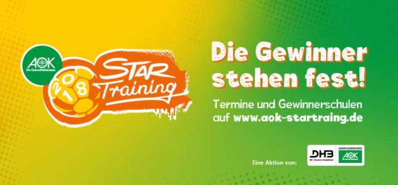 AOK Star-Training 2018: Die Gewinner-Schulen stehen fest