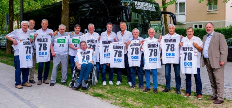 Die 1978er Weltmeister zu Gast in München – und bei DHB-Präsident Michelmann
