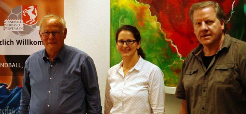 DHB-Vorstandsmitglied Martina Haas beim HV Westfalen