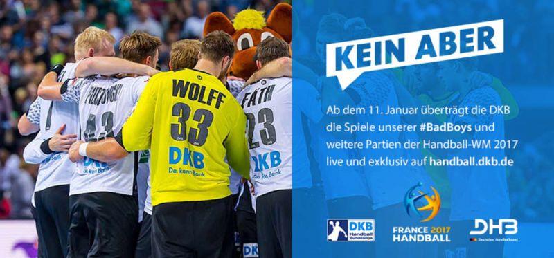 DKB zeigt Spiele live auf handball.dkb.de