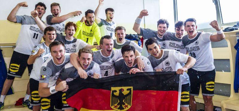 Freudentänze nach dem Abpfiff: DHB-Junioren feiern EM-Bronze