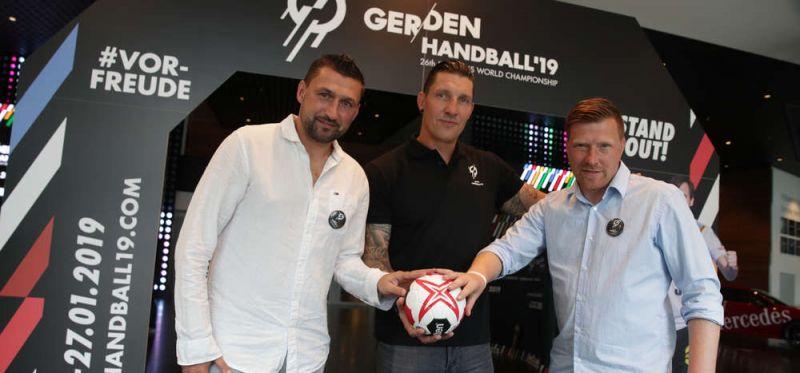 Berliner Botschafter für die WM 2019: Drei mit Ballgefühl und Herz für den Handball
