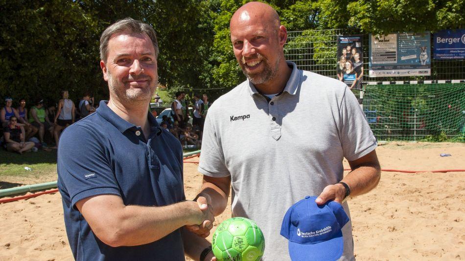 Deutsche Krebshilfe engagiert sich im Beachhandball